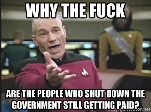 Star Trek Government Shut Down